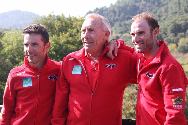Purito Rodríguez, Javier Mínguez y Alejandro Valverde