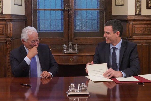 Pedro Sánchez y el primer ministro de Portugal, António Costa, presiden la Cum