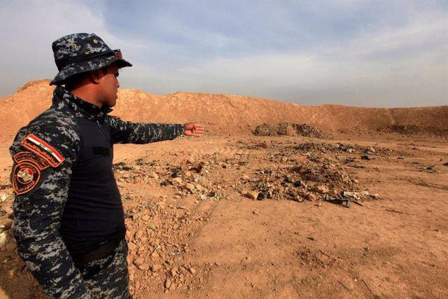 Fosa común de yazidíes