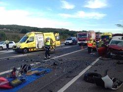 Un mort i un ferit greu en un xoc frontal a l'N-340 a Tarragona (SCT)