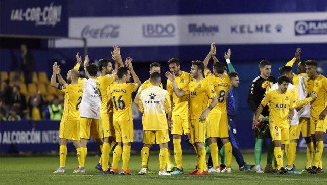 El Alcorcón se pone segundo en la Liga 1,2,3
