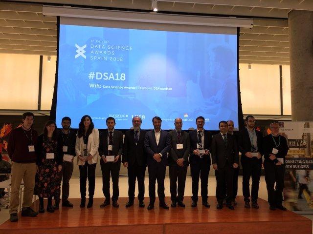 Galardonados en los Data Science Awards de LUCA (Telefónica)