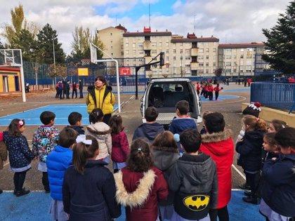 Cerca de 250 alumnos reciben formación en seguridad vial en Valladolid de manos de Rivekids