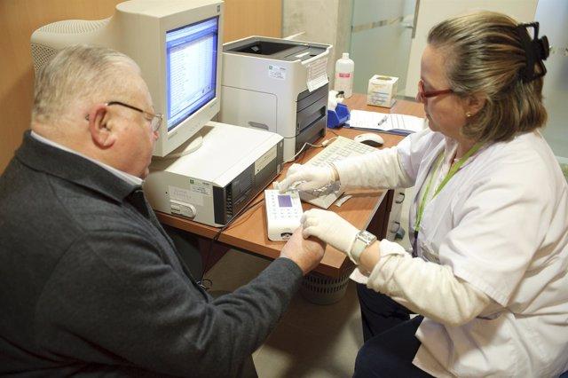 Control de medición de glucosa
