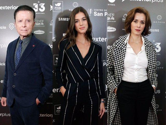 Ortega Cano, Sandra Gago y Fanny Gautier en el estreno de '33 El Musical'