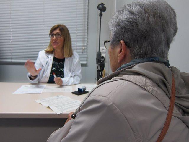Ambulatorio, médico, atención primaria, CAP, consulta, anciana