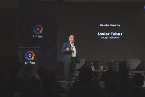 Javier Tebas, president de LaLiga en l'Índia