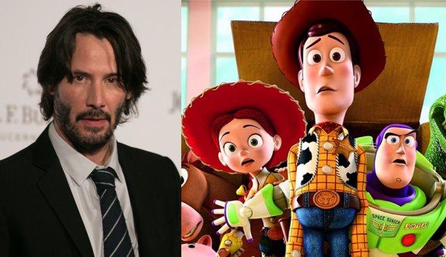 Keanu Reeves y escena de Toy Story 3