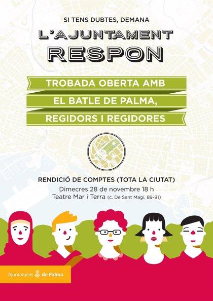El equipo de gobierno de Cort celebra este miércoles una audiencia abierta a la ciudadanía en el Teatre Mar i Terra
