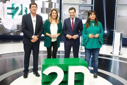 PSOE-A ganaría el 2D con 5-11 diputados menos, PP-A y Cs no suman mayoría y VOX puede tener 4 escaños según sondeos