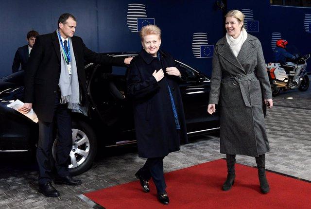 Presidenta de Lituania Dalia Grybauskaite