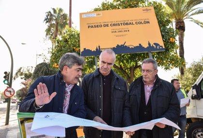 Comienza en Sevilla la construcción del carril bici que unirá los Jardines del Cristina y Reyes Católicos