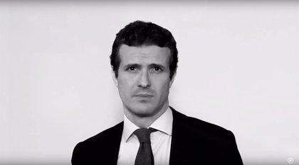 Casado, García Egea, Montserrat y Cuca Gamarra protagonizan un vídeo del PP contra la violencia de género