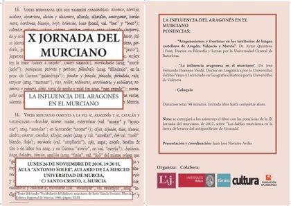 La UMU acoge este lunes una jornada sobre la influencia del aragonés en el dialecto murciano