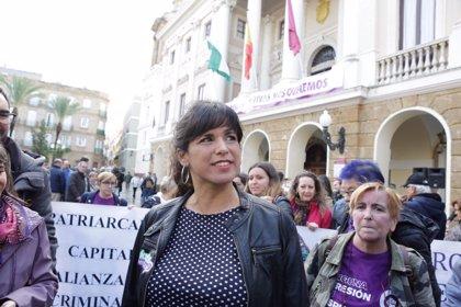 """Teresa Rodríguez estará """"muy atenta"""" a las condiciones de los trabajadores tras el acuerdo sobre Gibraltar"""