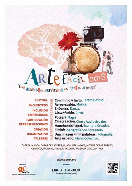 Un proyecto llevará diferentes disciplinas artísticas a diez localidades de Extremadura