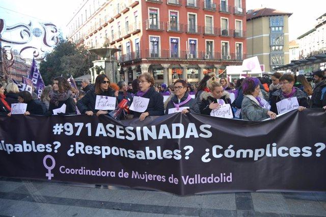 Valladolid.- Manifestación 25 de noviembre