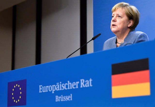 La canciller Angela Merkel en Bruselas