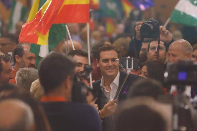 Albert Rivera, en un acto de Cs en Málaga