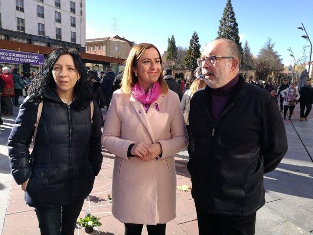Soria.- Noelia Martínez, Virginia Barcones y Miguel Latorre