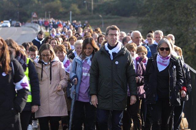 Feijóo y conselleiros en una caminata de la Xunta contra la violencia machista