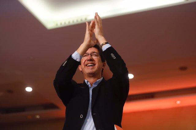 Juan Marín, en un acto de Cs en Málaga