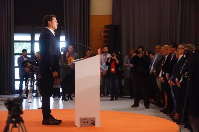 Albert Rivera en un acto en Málaga