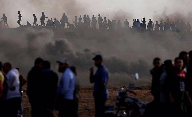 Disturbios en la frontera entre Israel y la Franja de Gaza
