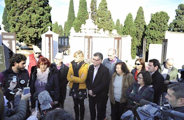 Exhumación de fusilados del franquismo en Castellón