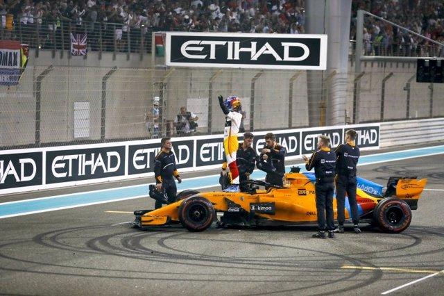 Fernando Alonso durante el GP Abu Dabi