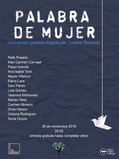Microteatro Málaga utiliza la poesía como arma contra la violencia sobre la mujer
