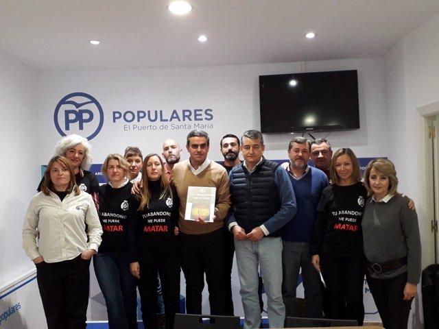Reunión del PP de Cádiz con funcionarios de prisiones
