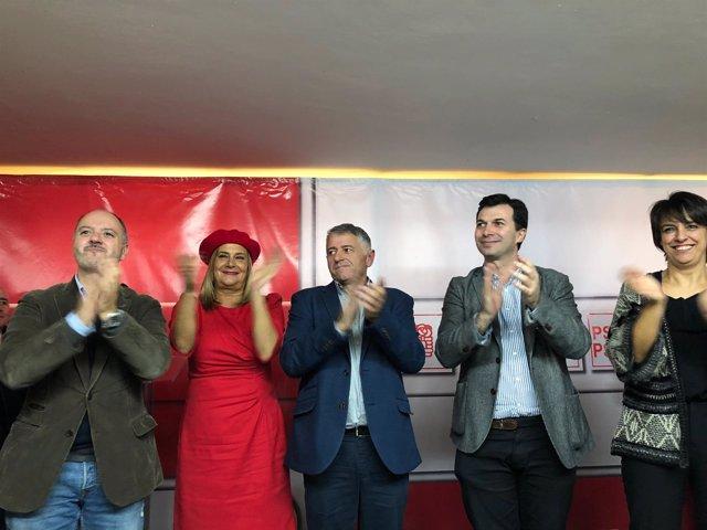 Carmela Silva y Gonzalo Caballero presentan a Manuel Cuíña, candidato en Silleda