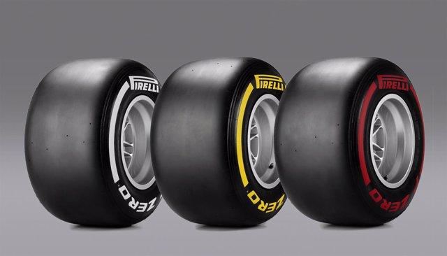 Neumáticos medios, blandos y superblandos de Pirelli