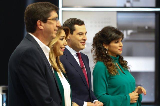 En Sevilla, debate en Canal Sur Televisión entre los candidatos a la Presidencia