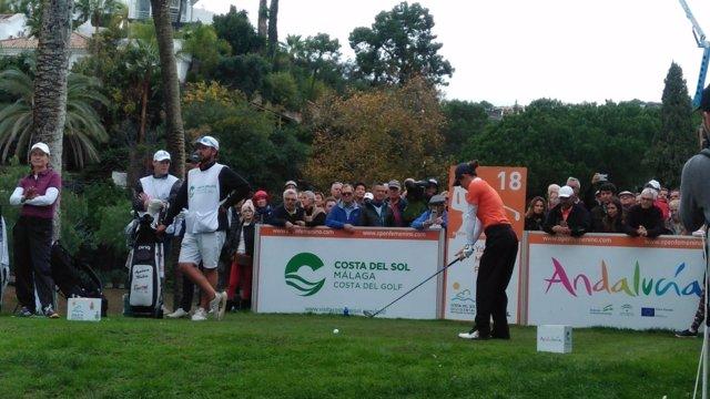 Azahara Muñoz en el Open de Golf en la Costa del Sol