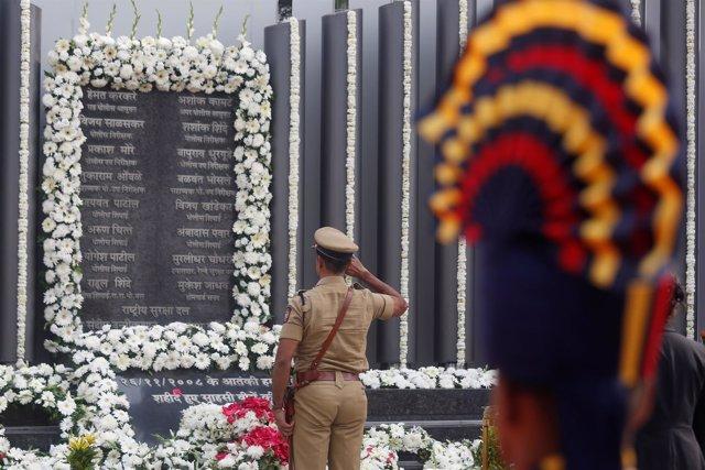 Memorial en recuerdo a las víctimas de los ataques de 2008 en Bombay