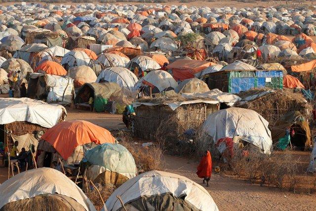 Un campo de desplazados internos en Somalia