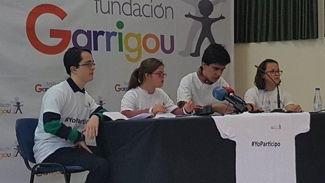 Jóvenes con discapacidad presentan la campaña YoParticipo de Garrigou