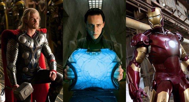 Thor, Loki y Iron Man