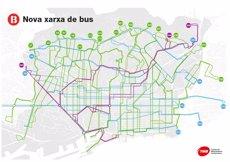Barcelona posa en marxa l'última fase de la nova xarxa de bus amb cinc línies més (TMB)