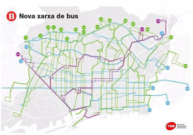 Nova xarxa de bus de Barcelona