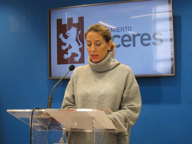María Guardiola, concejala de Economía y Hacienda de Cáceres