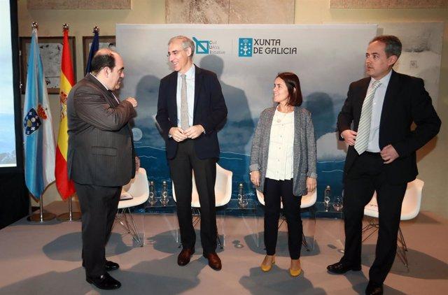Francisco Conde se reúne con empresas del polo aeroespacial de Rozas, en Lugo