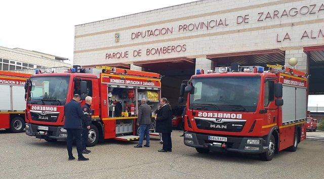 Nuevos camiones del servicio de bomberos de la DPZ