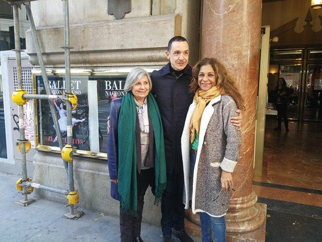 Lolita Flores, Tina Sainz y Luis Luque presentan 'Fedra' en el Olympia