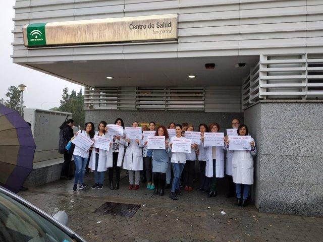 Uno de los paros sanitarios promovidos por el Sindicato Médico Andaluz