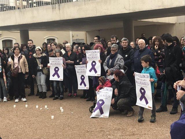 Concentración contra la violencia de género en Mérida