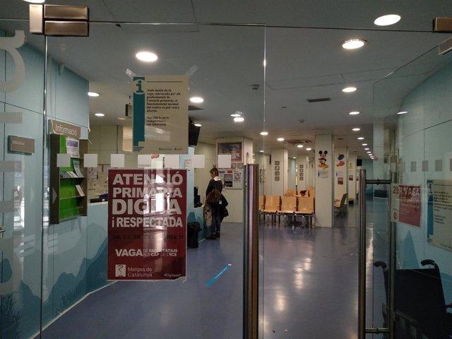 CAP Manso de Barcelona durante la huelga de médicos