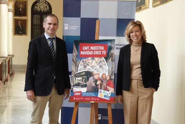 Presentación campaña EMT en Navidad en Málaga